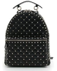 Valentino - Rockstud Spike Quilted Leather Backpack - Lyst