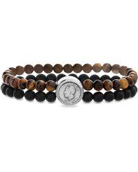 Steve Madden Beaded Coin Bracelet - Brown
