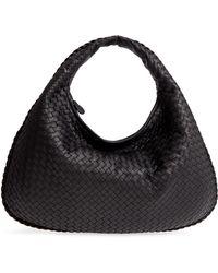 0a3c7a920e Lyst - Bottega Veneta Veneta Medium Hobo Bag in Black