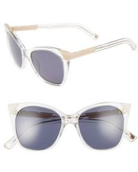 Pared Eyewear - Cat & Mouse 51mm Cat Eye Sunglasses - Clear/ Blush Grey - Lyst