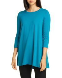 Eileen Fisher Jersey Tunic - Blue