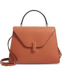 Valextra Iside Medium Top Handle Bag - Metallic