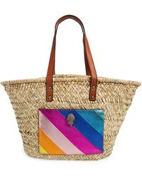 Kurt Geiger Kensington Woven Straw Basket Tote - Multicolor