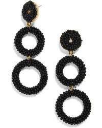 BaubleBar | Capella Beaded Triple Hoop Drop Earrings | Lyst