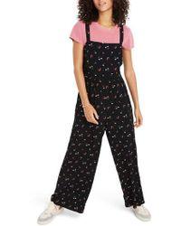 Madewell - Flower Toss Smocked Crop Jumpsuit - Lyst