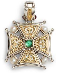 Konstantino - Hestia Topaz Cross Pendant - Lyst