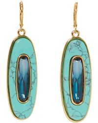Vince Camuto Oval Stone Drop Earrings
