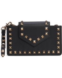 Valentino - Rockstud Leather Smartphone Case - Lyst