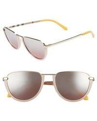 Burberry - Trench 54mm Aviator Sunglasses - - Lyst