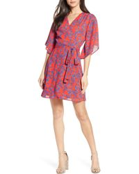 Charles Henry - Floral Wrap Dress - Lyst