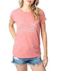 Rip Curl Cali Sunshine Boyfriend T-shirt - Pink