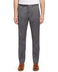 Nordstrom Athletic Fit Leg Non-iron Chinos - Gray