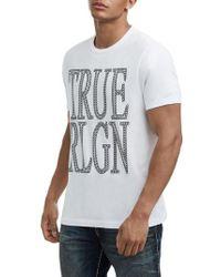 True Religion - True Religion Crafted Chain Logo T-shirt - Lyst