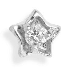 Maria Tash - Diamond Solitaire Star Stud Earring - Lyst