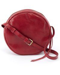 Hobo Groove Calfskin Leather Crossbody Bag - Red