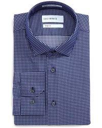 Calibrate | Trim Fit Stretch Check Dress Shirt | Lyst