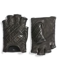 Rebecca Minkoff - Quilted Goatskin Leather Fingerless Gloves - Lyst