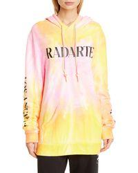 Rodarte Radarte Tie Dye Hoodie - Pink
