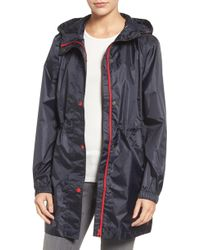 Joules - Right As Rain Packable Hooded Raincoat, Pink - Lyst