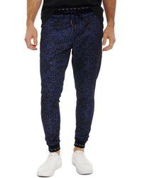 Robert Graham X Marvel Vibranium Sweatpants - Blue