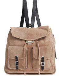 Rag & Bone - Field Suede & Leather Backpack - Lyst