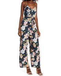 Chelsea28 Floral Wide Leg Jumpsuit - Multicolor