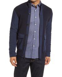 Bugatchi Merino Wool Cardigan - Blue
