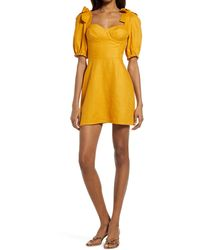 Reformation - Spring Bow Sleeve Dress - Lyst