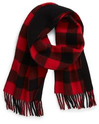 Polo Ralph Lauren Buffalo Reversible Wool Blend Scarf - Red