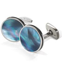 M-clip M-clip Stainless Steel Cuff Links - Blue