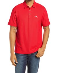 Tommy Bahama Men's Party Islandzone Piqué Performance Polo - Red