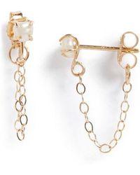 Melissa Joy Manning - Keshi Pearl Ear Chains - Lyst
