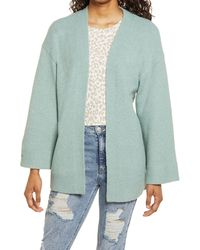 BP. Open Front Cardigan - Green