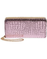BP. Embossed Faux Leather Wallet - Pink