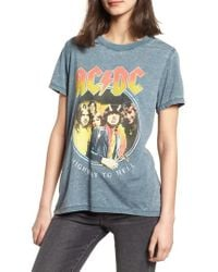 Mimi Chica - Ac/dc Highway To Hell Tee - Lyst