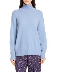 Seventy Turtleneck Balloon Sleeve Sweater - Blue