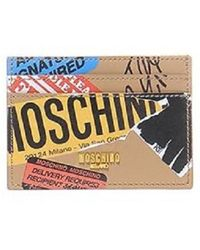 Moschino | Package Leather Card Case | Lyst