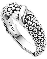 Lagos 'signature Caviar' Ring - Metallic
