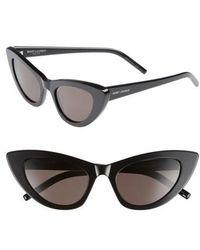 Saint Laurent - Lily 52mm Cat Eye Sunglasses - Lyst