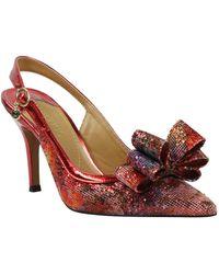 J. Reneé Charise Bow Pointed Toe Slingback Pump - Multicolour