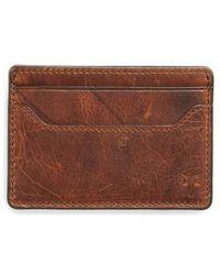 Frye - Logan Leather Money Clip Card Case - - Lyst