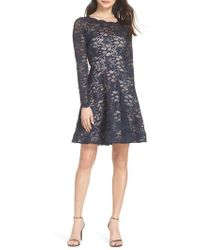 Sequin Hearts - Glitter Lace Fit & Flare Dress - Lyst