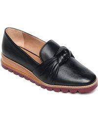 Bernardo Jansen Knot Platform Loafer - Black