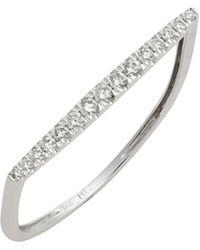 Bony Levy - Diamond 18k Gold Bar Ring (nordstrom Exclusive) - Lyst