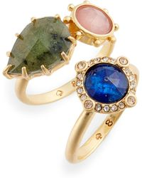 Kate Spade - Perfectly Imperfect Stone Ring Duo - Lyst