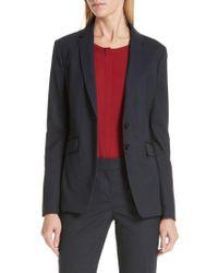 BOSS - Jeriba Minidessin Stretch Wool Suit Jacket - Lyst