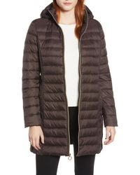 MICHAEL Michael Kors - Packable Down Puffer Jacket, Brown - Lyst