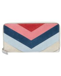 Rebecca Minkoff | Chevron Quilted Suede Continental Wallet | Lyst