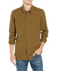 Lacoste - Regular Fit Lightweight Cotton Flannel Shirt - Lyst