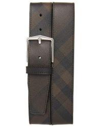 Burberry - 'joe' Check Pattern Belt - Lyst